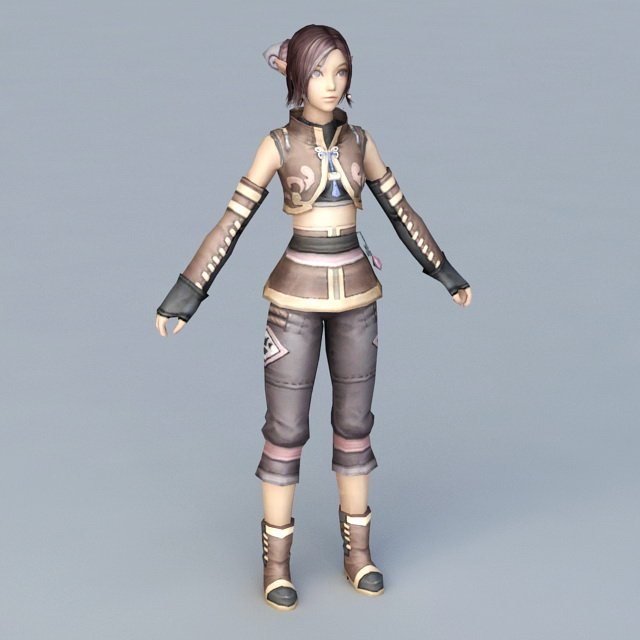 Young Mage Apprentice 3d rendering