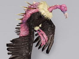 Giant Monster Vulture 3d preview