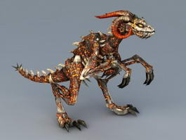 Lava Demon Dinosaur 3d preview