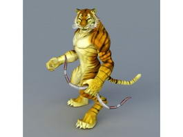 Tiger Archer with Bow 3d preview