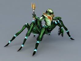 Scary Spider Monster 3d model preview