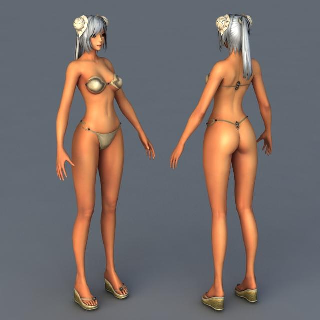 Virtual Models Bikini 3d rendering