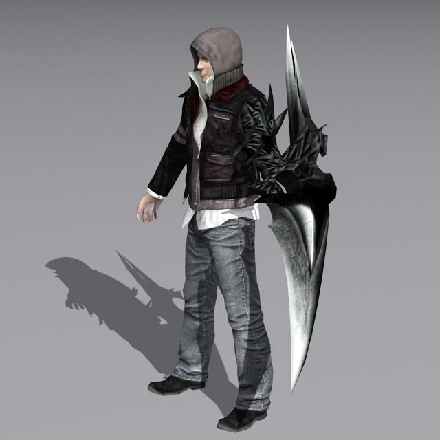 Steampunk Warrior Man 3d rendering
