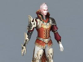 Male Elf Wizard 3d preview