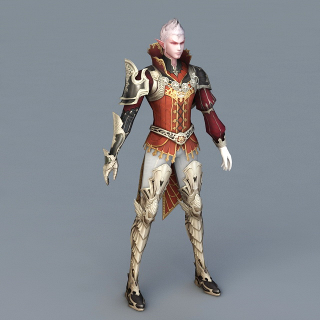 Male Elf Wizard 3d rendering