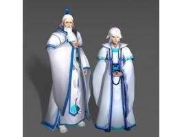 White Haired Couple 3d preview