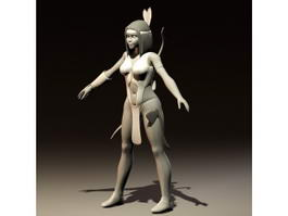 Ancient Mayan Woman 3d model preview
