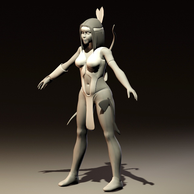 Ancient Mayan Woman 3d rendering