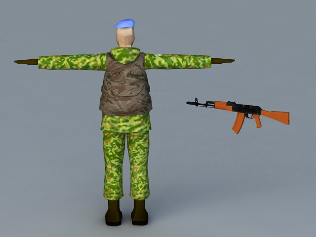 Russian VDV Special Forces 3d rendering