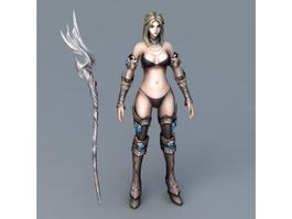 Female Battle Mage 3d preview