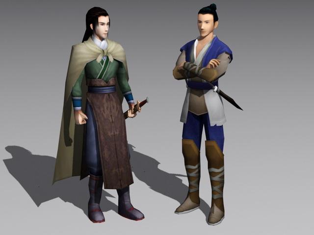 Chinese Swordsman 3d rendering