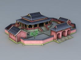 Chinese Ancestral Shrine 3d preview