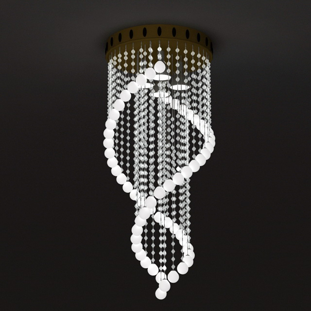 Spiral Crystal Chandelier 3d Model 3ds Max Files Free