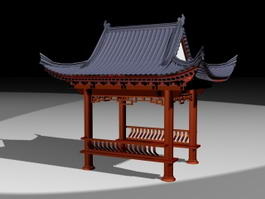 Chinese Style Gazebo 3d preview