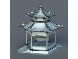 Chinese Gazebo Design 3d preview