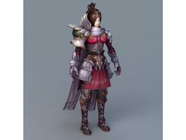 Beautiful Chinese Female Warrior 3d model preview