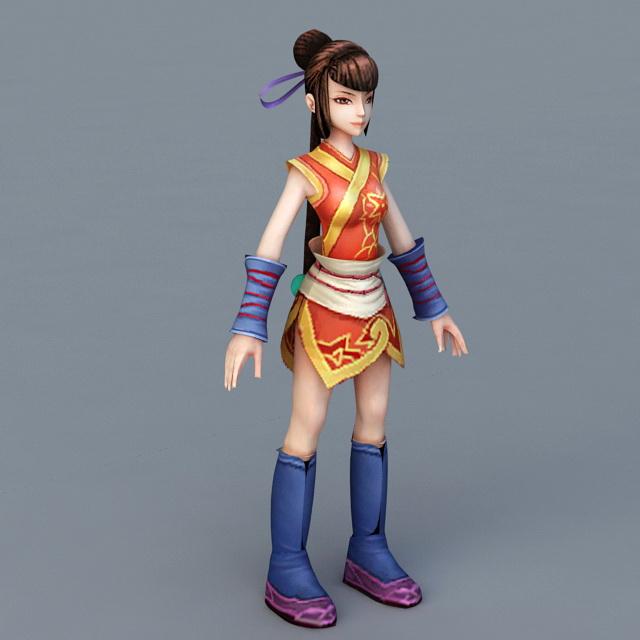 Chinese Martial Arts Anime Girl 3d Model Cadnav