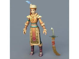 Medieval Persian Warrior 3d preview