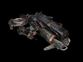 SciFi Concept Space Fighter 3D Model