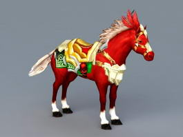 Red Horse Mount 3d model preview