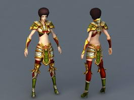 Female Paladin Knight 3d preview