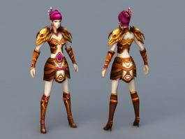 Anime Warrior Priestess 3d preview