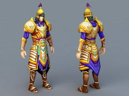 Anime Chinese Warlord 3d model preview