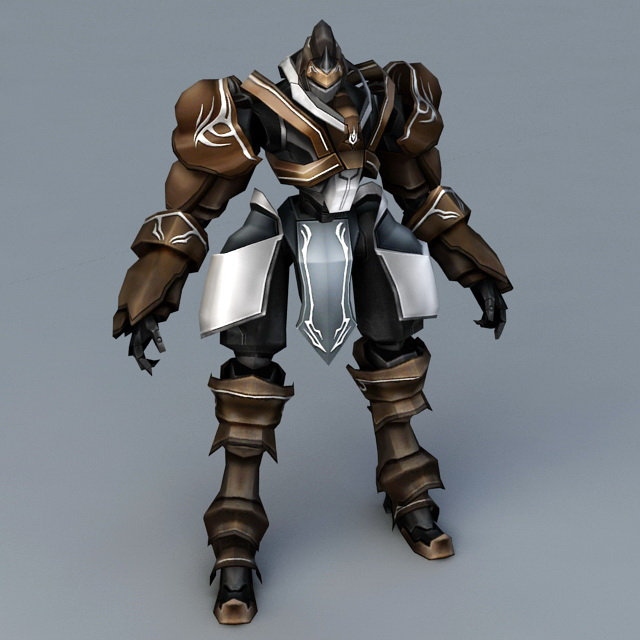 Futuristic Robot Warrior 3d rendering