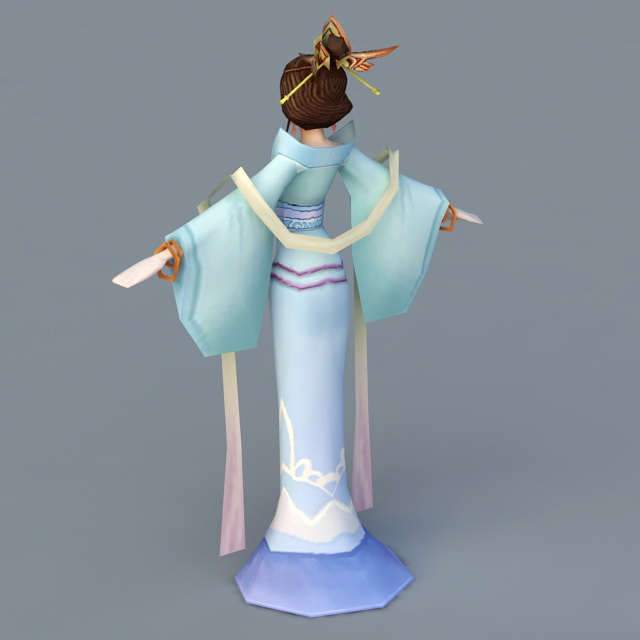 Tang Dynasty Dancer Woman 3d rendering