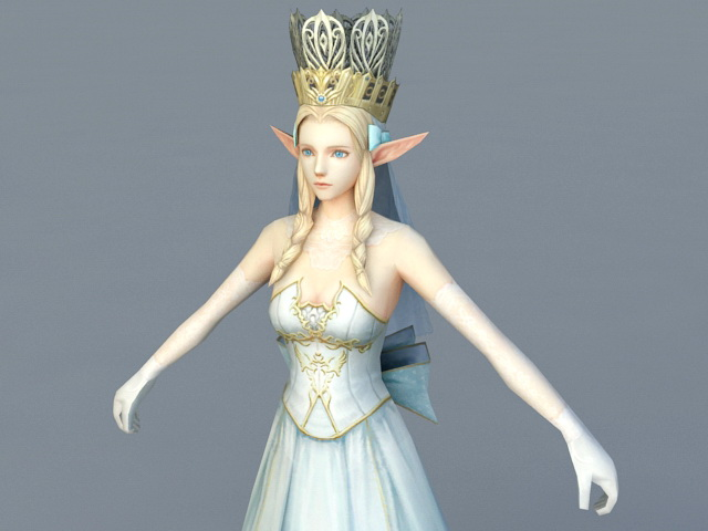 Elf Queen 3d rendering