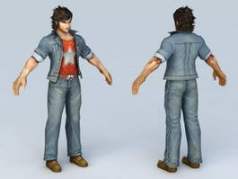 Street Fighter Guy 3d preview