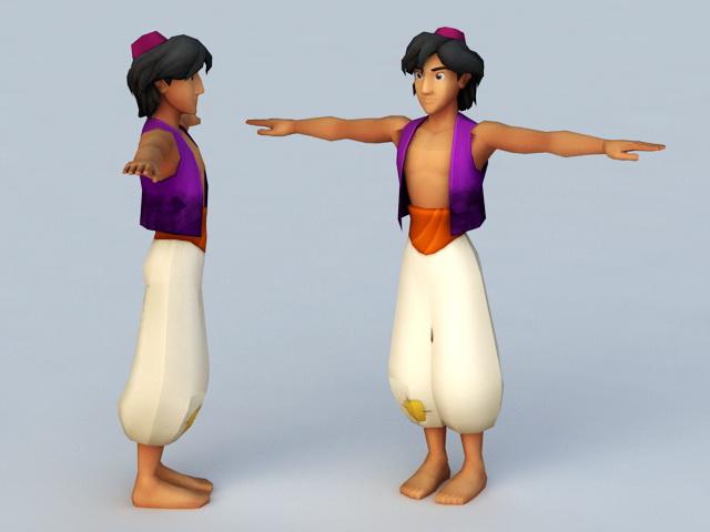Disney Aladdin 3d rendering
