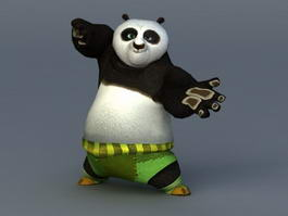 Po Kung Fu Panda 3d model preview