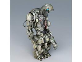 Sci-Fi Battle Armor 3d model preview