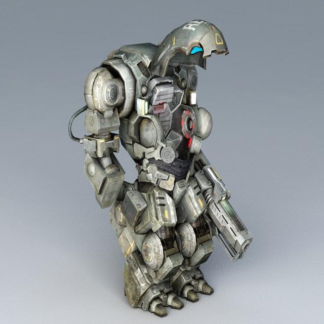 Sci-Fi Battle Armor 3d rendering