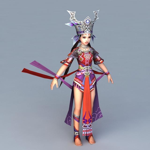 Ancient Hmong Princess 3d rendering