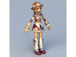 Anime Instructor Girl 3d preview