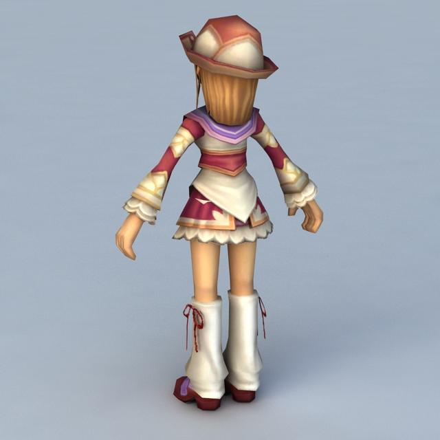 Anime Instructor Girl 3d rendering