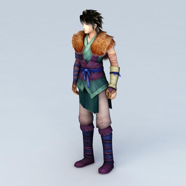 Mongolian Prince 3d rendering
