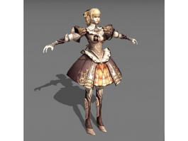 Middle Ages Princess 3d preview