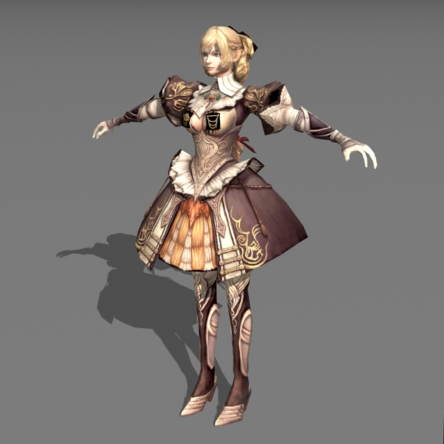 Middle Ages Princess 3d rendering