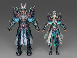 Dragon Warrior Couple 3d preview
