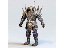 Dark Warrior Heavy Armor 3d preview