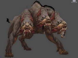 Cerberus Three-Headed Dog 3d preview