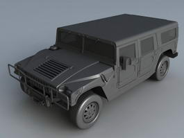 Military Hummer H1 3d preview