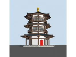 Chinese Pagoda Architecture 3d preview