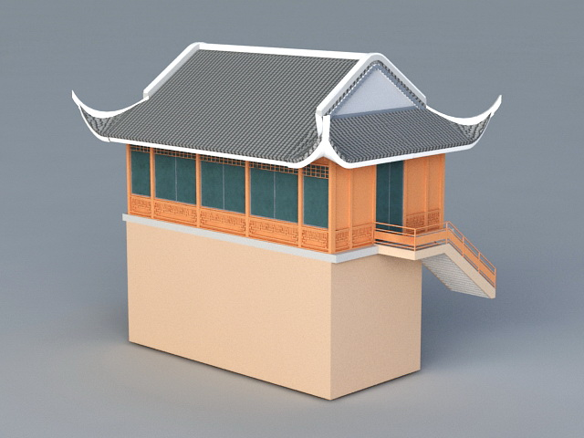 Old Store Building 3d rendering