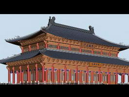 Chinese Imperial Palace 3d preview