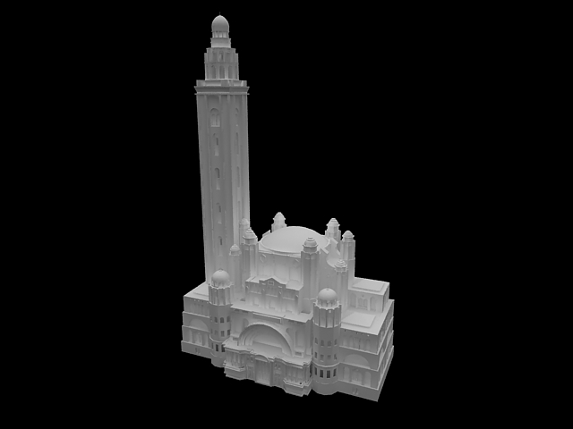 Westminster Cathedral 3d rendering