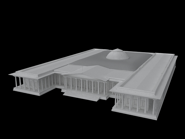 British Museum 3d rendering